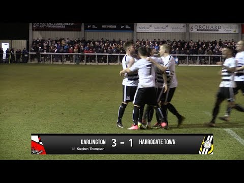 Darlington 3-1 Harrogate Town - Vanarama National League North - 2017/18
