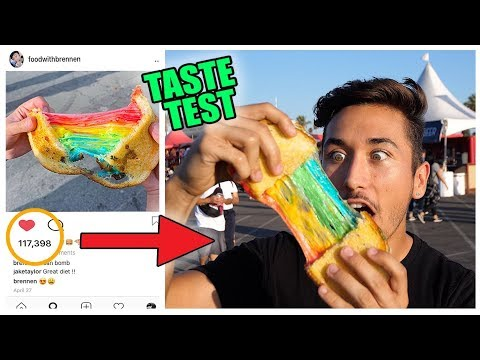Eating Instagram Famous Food Trends (Taste Test) *Part 2*