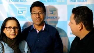 Professor Gederlandio Santos e Professora Edinalva Pereira no Praça Viva