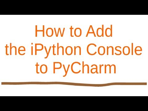 How to add ipython console to pycharm? - YouTube
