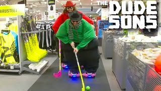 Fatsons On Hoverboards At The Mall Prank! - The Dudesons