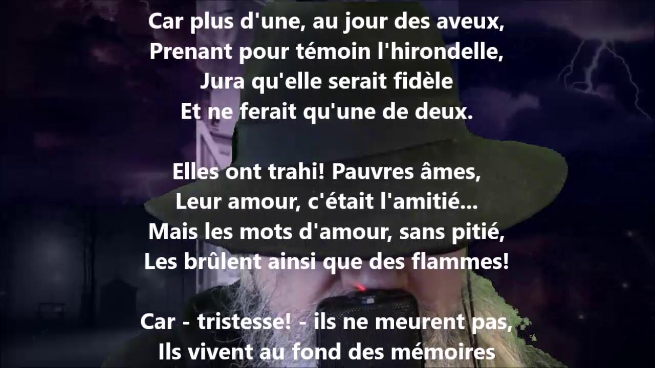 Les Mots Damour Albert Lozeau Lu Par Yvon Jean Youtube