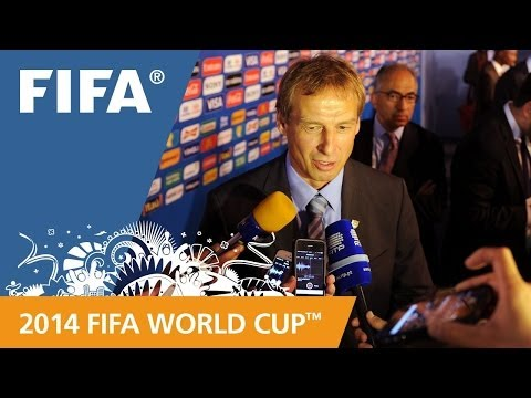 USA's Jürgen KLINSMANN Final Draw reaction