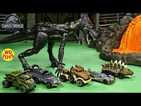 New Jurassic World Complete Collection Hot Wheels Fallen Kingdom Dinosaur Toys Matchbox Island Unbox