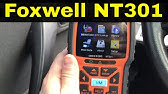 FOXWELL NT301 OBDII Diagnostic Scan Tool Review - YouTube