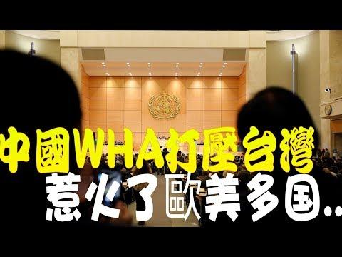 中國在WHA打壓台灣 惹火了美國及歐盟多國力挺