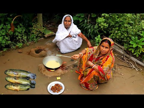 Bangali Koi FISH EGG MALAIKARI Recipe by Grandmother | Village Style Cooking Egg Malaikari