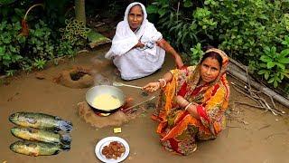 Bangali Koi FISH EGG MALAIKARI Recipe by Grandmother | Village Style Cooking Egg Malaikari
