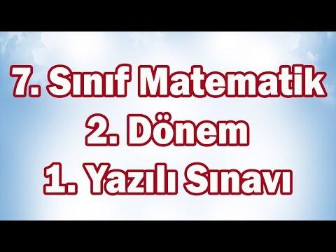 7. Sınıf Matematik 2. Dönem 1. Yazılı Sınavı Hazırlık | CANLI