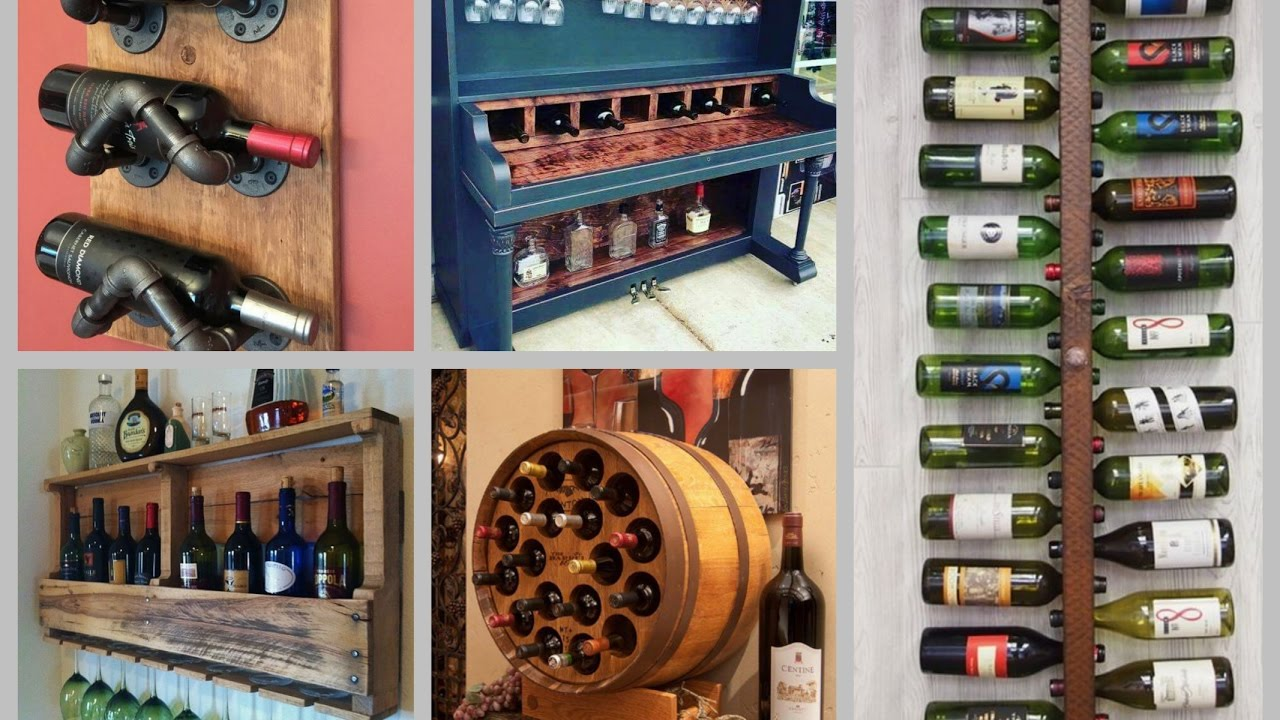 DIY Wine Rack Ideas - Creative Wine Shelf DIY Home Decor ...