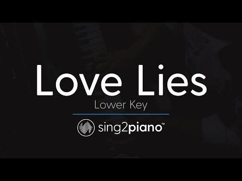 Love Lies (LOWER Piano Karaoke) Khalid & Normani