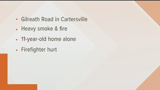 11-year-old hospitalized after Cartersville house fire