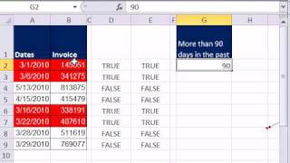Excel Magic Trick 631: Conditional Formatting Invoices 90 Days Past Due