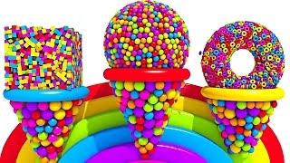 Фигуры и цвета учим на английском. Развивающие мультики и обучающие видео обзоры детских игрушек