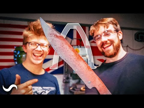 Download Youtube: MAKING A BOWIE KNIFE WITH REAL ENGINEERING!!! PART 1