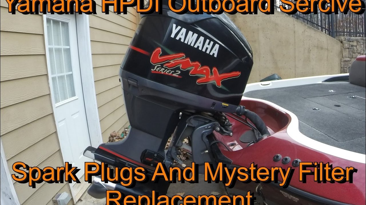 Yamaha HPDI Outboard Service Replacing Spark Plugs & Mystery Filters