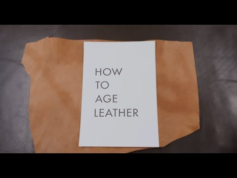 How To Age Leather Fast And Easy