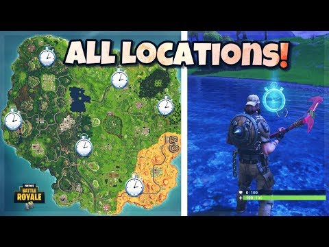 ALL TIME TRIAL Locations! Fortnite Battle Royale - How To