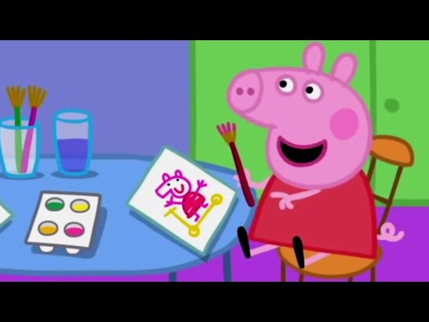 Peppa Pig English Episodes   Painting Pictures   Peppa Pig Official