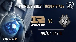Royal Never Give Up vs G2 - World Championship 2017 - Group Stage - Day 4 - League of Legends