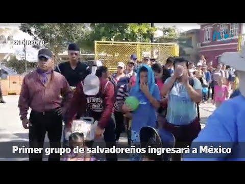 Migrantes salvadoreños cruzan frontera entre Guatemala y México | Prensa Libre