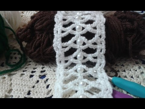 How To : Crochet A Beaded Narrow Tap / Video Tutorial