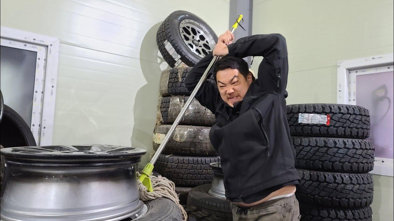 박병일 명장님께 감명 받고 타이어은행 취직합니다