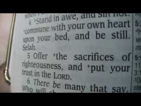 Psalm 4 King James Holy Bible