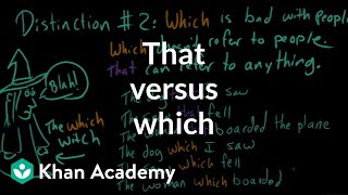 That versus which | The parts of speech | Grammar | Khan Academy