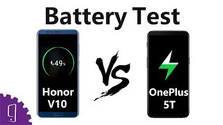 Huawei Honor view 10 vs OnePlus 5T Battery Test丨Charging time丨Battery drain test