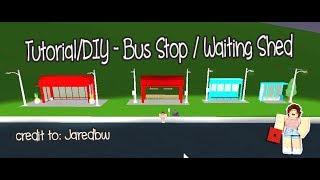 ROBLOX │Bloxburg - Tutorial/DIY - Bus Stop / Waiting Shed