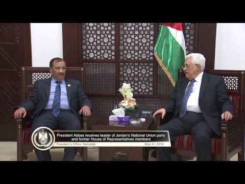 President Abbas receives leader of Jordan