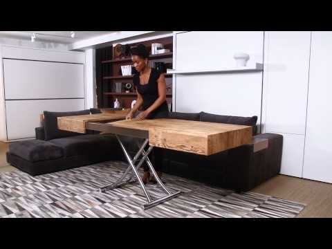 this coffee table turns into a dining table in seconds :: fooyoh