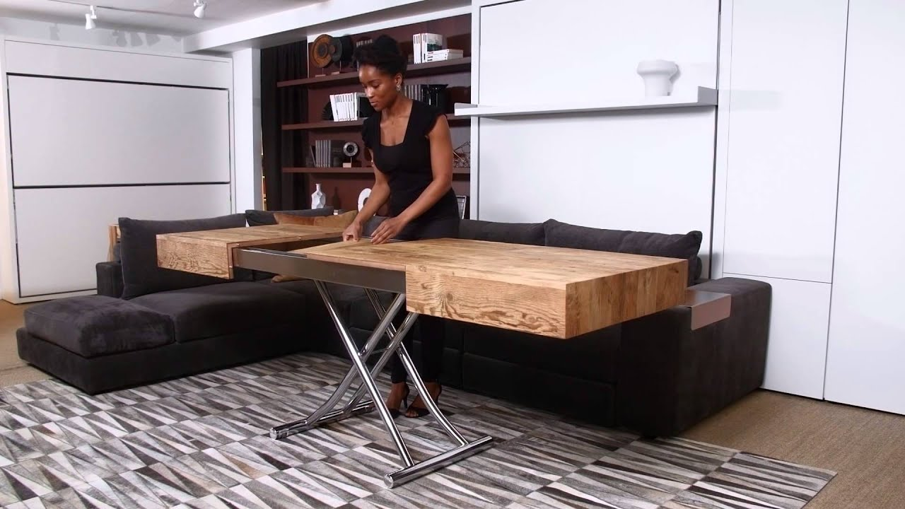 Cristallo | Resource Furniture | Transforming Tables - YouTube