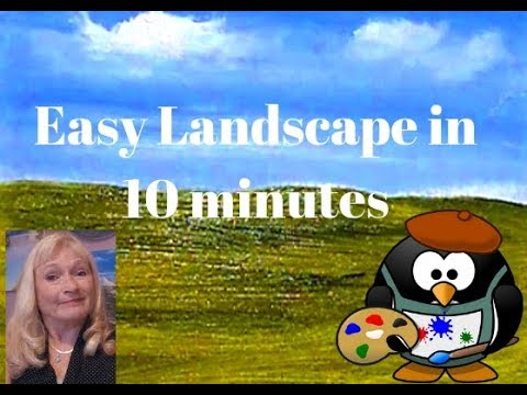 Easy 10 Minute Acrylic Landscape Painting for Beginners Step by Step