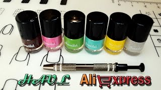 Stamping nail polishes|Manicure saver cotton claw|HAUL Aliexpress