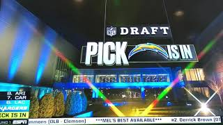 Justin Herbert drafted No.6 Overall to LA Chargers in NFL Draft!