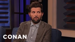 Adam Scott Always Looks Pissed - CONAN on TBS