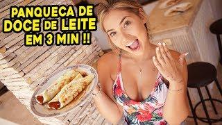 COMO FAZER A MELHOR PANQUECA DE DOCE DE LEITE EM 3 MINUTOS??!!!