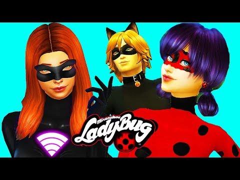Miraculous Ladybug & Cat Noir Sims 4 (Ep 6) 🐞 LADY WIFI Akumatized! 🐞 Sims 4 Miraculous Ladybug