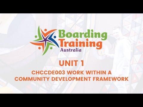 unit 1 work within a community development framework copy