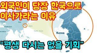 """외국인이 지금 당장 한국으로 이사가라고 하는 이유 """"평생 다시는 안올기회"""""""