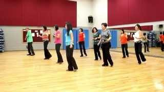 Long Hot Night - Line Dance (Dance & Teach in English & 中文)