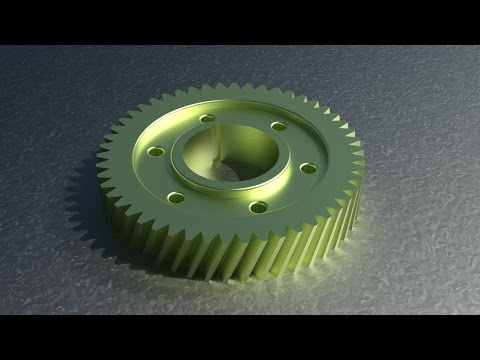 2D To 3D In Autocad _ Mechanical Gear
