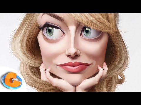 Emma Stone (Caricature Speed Painting) By Israel Oliveras Horta