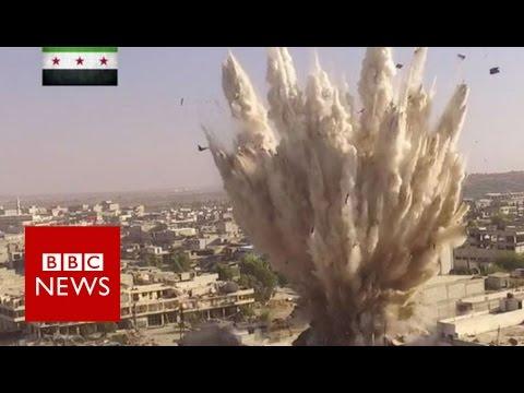 Huge 'tunnel Bomb' Rocks Aleppo  - BBC News