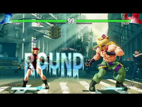 STREET FIGHTER V Cammy vs Alex