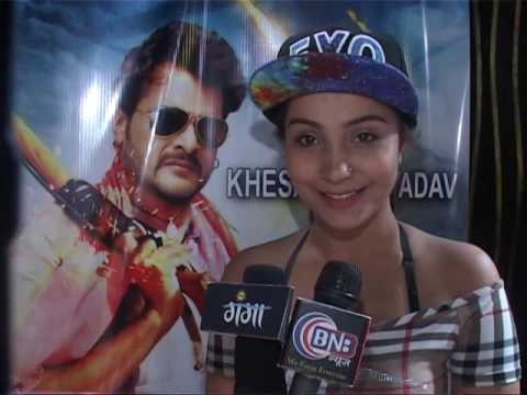 Khesari Lal Singer Happy Rai,interview  Production No 5 Muihurat Star Cast