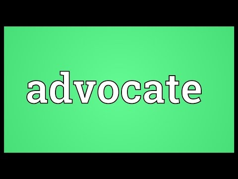 Advocate Meaning