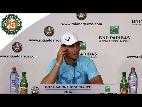 Press conference R.Nadal 2014 French Open 2014